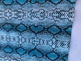 Slangen print leer blue glans