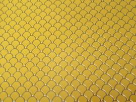 Zeemeermin staart patroon leer geel/goud