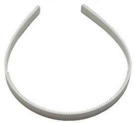 Diadeem om zelf te bekleden wit 10 mm