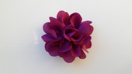 Chiffon bloem fuchsia/paars 5.5cm