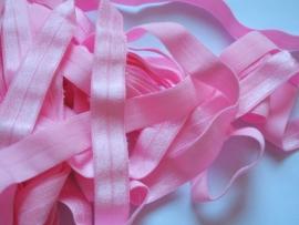 Elastisch biasband baby roze (haarband)  1,5cm