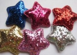 Ster grof glitter 5cm kies jou kleur