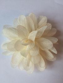 Glitter Bloem ivoor 7 cm