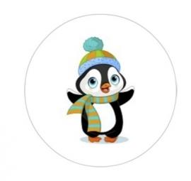 flatback & button pinguin sjaal