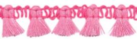 Sierband kwastjes knal roze/licht roze