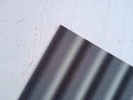 Regenboog glitter leer zilver/zwart  20x22 cm