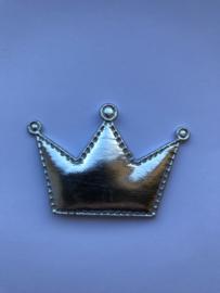 kroon metallic zilver 6cm