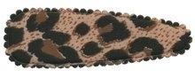 Haarkniphoesje panterprint bruin 8 cm