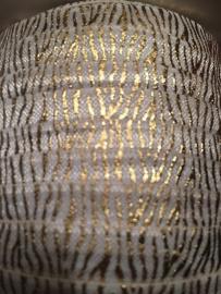 Elastisch band off white met goud zebra