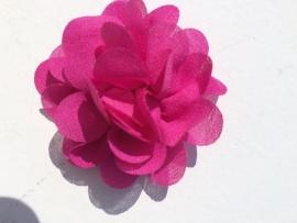 Chiffon bloem fuchsia 5,5 cm