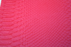 Leer krokodil structuur rood