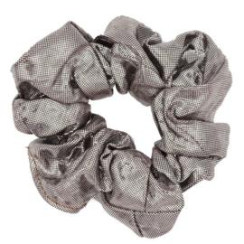 Scrunchie Haarwokkel zilver metallic