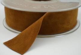 Velvet/fluweel band roest dubbelzijdig 1.5cm
