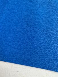 Leer mat reliëf  royal blue/kobalt