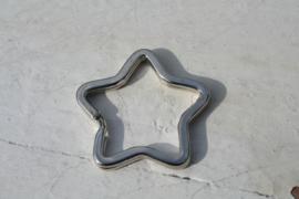 Sleutelhanger ster  zilver