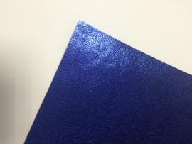 Leer metallic slangen print fijn royal blue/cobalt blauw