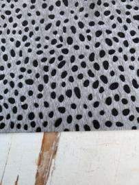 leer vacht panter/tijger grijs  20x30 cm