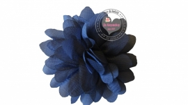 Chiffon bloem grijs 6,5cm