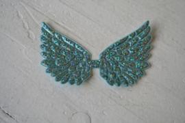 Vleugels  aqua glitter