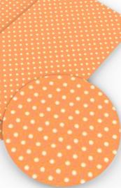 Leer oranje stip/polkadot wit