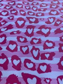 Leer hartjes Licht roze pink
