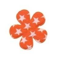 Bloem oranje met witte sterren 3,5 cm