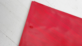 Leer glimmend glitter /streep motief rood