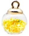 Bolletjes bedel/hanger sterretjes geel