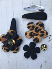 DIY Haarknipje black tijger
