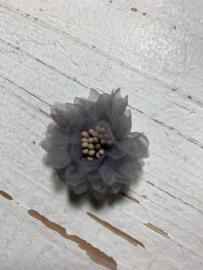 Vintage bloem grijs 4cm