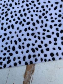 leer vacht panter/tijger wit  20x30 cm