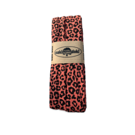 Biasband Tricot/Jersey panter/tijger Terracotta