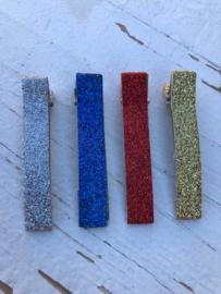 Alligator knip  6cm met PU glitter leer