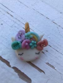 Unicorn flower regenboog fimo klei poppetje