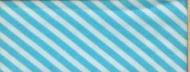 Biasband streep wit/aqua(6005)