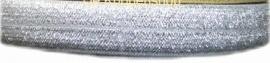 Elastisch biasband zilver glitter  2cm br
