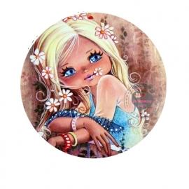 Flatback meisje flower