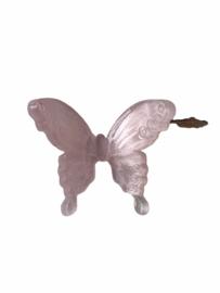 Flatback vlinder pastel roze