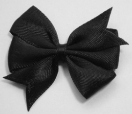 Strik dubbel zwart satijn