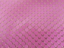Zeemeermin staart patroon leer roze/goud