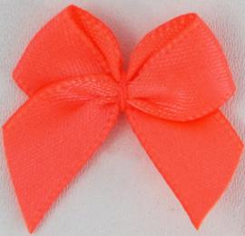 Strikje neon oranje satijn
