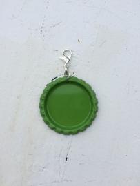 Bottlecap hanger groen met hanger