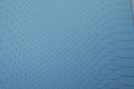 Leer krokodil structuur licht blauw
