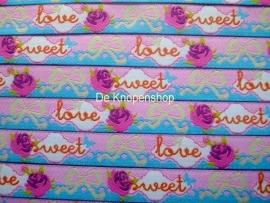 Sweet love roosjes & strikjes roze