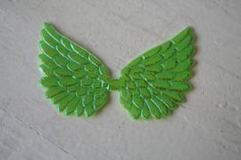 Vleugels  groen glimmend