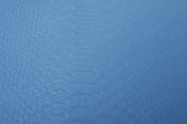 Leer krokodil structuur blauw