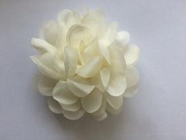 Chiffon bloem ivoor 7cm