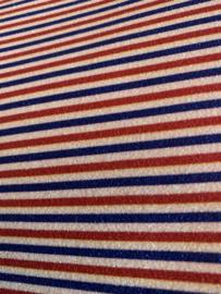 Glitter leer streep rood-wit-blauw