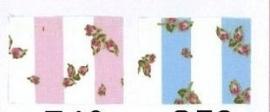 Rosa dotje streep & roosjes  baby blauw