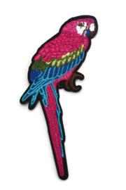 Opstrijkbare applicatie papegaai